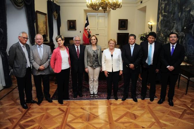 Cena de la Presidenta de la Republica y Presidentes de partido de la Nueva Mayoria